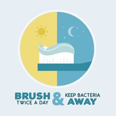 BRUSH TWICE A DAY and keep plaque and gum disease at bay! #parkridgedentist