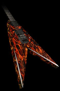 B.C. Rich Kerry King Signed and Played Signature Speed V Tribal Electric Guitar
