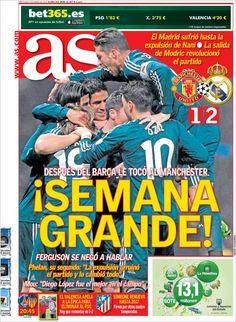 Los Titulares y Portadas de Noticias Destacadas Españolas del 6 de Marzo de 2013 del Diario Deportvo AS ¿Que le pareció esta Portada de este Diario Español?
