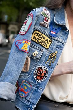 We had to get a zoomed-in shot on this patched-up denim.