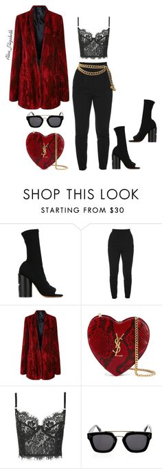 """""""Love Spell."""" by queenleestyles ❤ liked on Polyvore featuring Givenchy, Alexander McQueen, Haider Ackermann, Yves Saint Laurent, Topshop, CÉLINE and Chanel"""