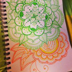 Double color #mandala #doodle #zentangle
