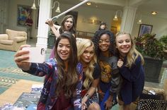 Rowan with Skai Jackson, Piper Curda, Olivia Holt and G Hannelius