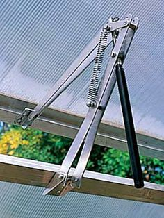 Automatic Greenhouse Vent Opener | Gardener's Supply #greenhouseideas
