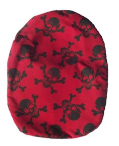 Stoma Cover Wild - Red with Skull Little Bag, 1 Piece, Printing On Fabric, Skull, Colour Red, Cover, Cotton, How To Wear, Crafts