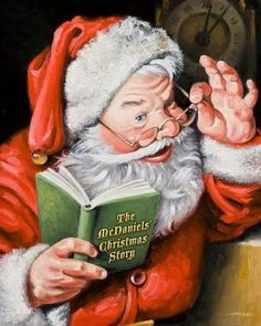 like the touching eye spectactles je personalized santa painting