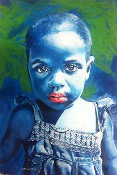 "Saatchi Art Artist Lioda Conrad Fine Art; Painting, ""Baby Blue"" #art"