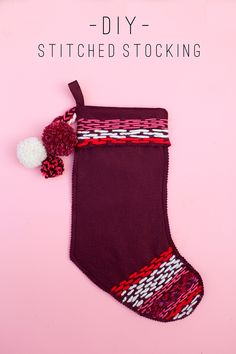 tell love and chocolate: TELL: DIY STITCHED STOCKING
