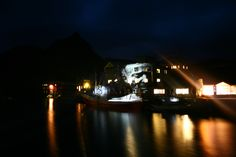 The Factory  Nyksund, Norway  Projection on wall with actor from American Astronaut