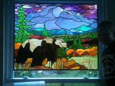 Shannon's Denali Bear - Delphi Stained Glass