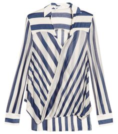 the perfect striped blouse