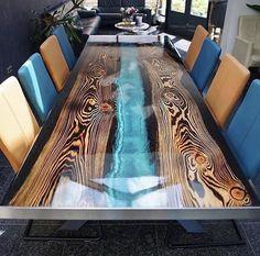 Resin Furniture, Timber Furniture, Unique Furniture, Custom Furniture, Furniture Decor, Diy Resin Wood Table, Epoxy Resin Table, Epoxy Resin Art, Home Music Rooms