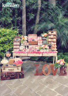 www.kamalion.com.mx - Mesa de Dulces / Candy Bar / Postres / Coral / Wedding…