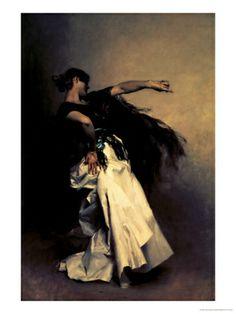 "The Spanish Dancer, Study for ""El Jaleo,"" 1882 by John Singer Sargent. Giclee print from Art.com."