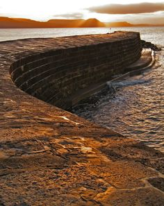 "The Cobb, Lyme Regis Harbour | Dorset, England - one of the settings in Jane Austen's novel ""Persuasion"""