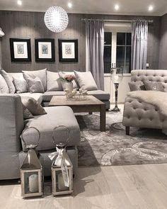 Bygget drømmehuset fra Fiskarhedenvillan Diy Wall Hooks, Living Room With Fireplace, Beige Walls, Living Room Inspiration, Decoration, Living Room Designs, Room Decor, House Styles, Furniture