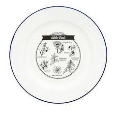 TMOD Adventure Enamel Plate Edible Weeds #worthynzhomeware wwworthy.co.nz