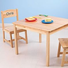 Personalized Kids Wood Table and Chair Set PersonalizationMall.com http://www.amazon.com/dp/B006CVN7IS/ref=cm_sw_r_pi_dp_6.n2tb1WXW808VZK
