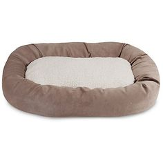 32 inch Pearl Villa Collection Sherpa Bagel Dog Bed *** This is an Amazon Affiliate link. Continue to the product at the image link.