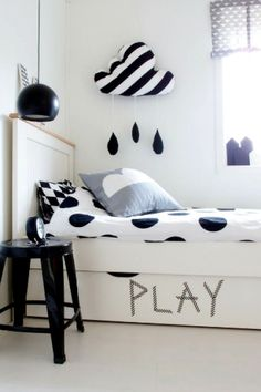 black and white kids rooms - magpie and squirrel