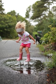 Puddle Perfection! This reminds me of how my adult self put restrictions on my inner child. *Note to adult self - 'Let the kid have some fun' !!!