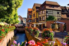 "Colmar - Alsace, France * Ownership of Alsace has passed between France and Germany for centuries, and the Germanic feel lingers along the Route du Vin d'Alsace (the Alsation Wine Road).  Considered the wine capital of this world-class wine region, Colmar is known for its half-timbered houses and canals, earning Colmar its nickname ""la petite Venise"" (Little Venice)."