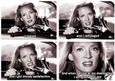 my favorite moment of my favorite character of one of my favorite movies. Kill bill vol 1 Death Proof, Reservoir Dogs, Tarantino Films, Quentin Tarantino, Jackie Brown, Movies And Series, Movies And Tv Shows, Kill Bill 2, 2 Bill