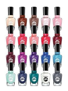 Sally Hansen Miracle Gel Nail Color 0.5 Ounce Each  (choose qty 50- 1000)