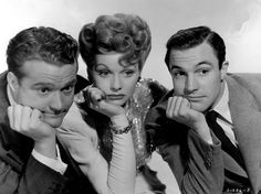 Red Skelton, Lucille Ball and Gene Kelly