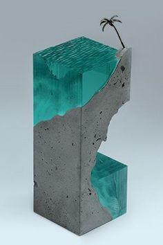 Ben Young's Surfing Glass Wave Sculptures Statues Weblink: http://brokenliquid.com/52503/gallery Facebook Page: https://www.facebook.com/benyoungsculpture?ref=br_tf