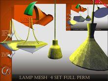 Lamp 4 set Mesh  Full Perm Mesh