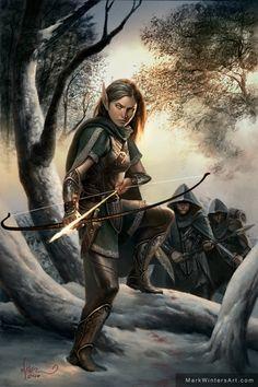 f High Elf Ranger Med Armor Longbow Sword patrol community forest hills A very good fantasy, enjoy your mind. Dark Fantasy, Fantasy Rpg, Medieval Fantasy, Fantasy Artwork, Fantasy World, Elfa, Fantasy Inspiration, Character Inspiration, Character Portraits