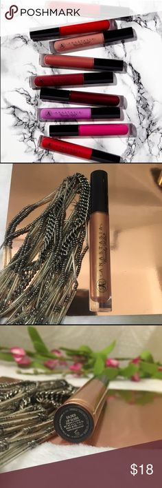 """💋Anastasia Beverly gloss authentic new """" Gilded""""✨ Authentic brand new full size lipgloss I'm shade Gilded"""" a shimmery Gold topper ! Beautiful this came from a limited edition set ! I just don't use lipgloss ! New with gifts or bundle for a cheaper price 😉 Sephora Makeup Lip Balm & Gloss"""