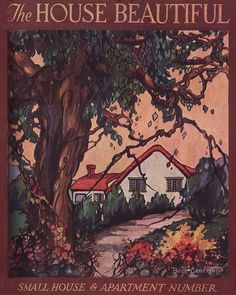 Red Roof Cottage in Autumn by American Vintage Home, via Flickr