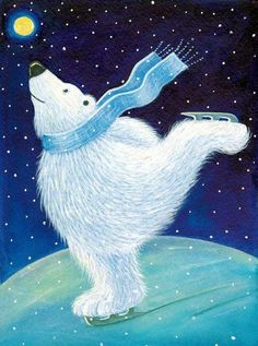Wallpaper of Polar Bear for fans of Christmas 2736096 Winter Illustration, Children's Book Illustration, Blue Christmas, Merry Christmas, Art D'ours, Image Halloween, Image Nature Fleurs, Scandinavian Folk Art, Bear Art