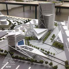 Imagen relacionada Cinema Architecture, Architecture Model Making, Commercial Architecture, Architecture Student, Concept Architecture, Arch Model, Modern Architects, Master Plan, Urban Design