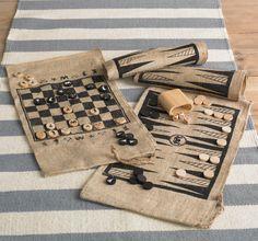 DwellStudio Summertime Backgammon Set