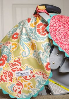 Car Seat Cover/Canopy for Girl, Essential Baby Item (Secret Garden)