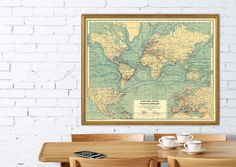 World map -1896.