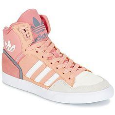 Zapatillas sneakers de cuero rosa                              …