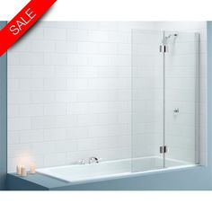 2 Panel Hinged Bath Screen 900 x 1500mm RH