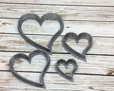 Cutter Set #20 - 3D Printed Heart Shape Polymer Clay Cutters | Clay Shape Tools | Clay Cutter Set | Nested Cutting Tools