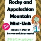 Use this to teach the standard SS3G1b: Identify major mountain ranges of the USA: Appalachian and Rocky Mountains. Included are 4 great days of in...