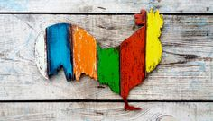 Wooden Rooster Farmhouse Style Wall Decoration, Kitchen Decor, Wall Sign, Country Style, Wall Art, Bird Figurine, Rooster silhouette