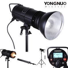 Yongnuo YN300 Flash Speedlite Light Lamp Shade+Stand Tripod for Canon Nikon