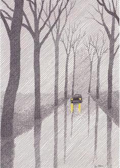 Me gusta este ilustrador francés, sencillo y misterioso, que produce múltiples sensaciones. Hace dibujos queson toda una historia.Pinche l...