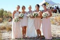 the dress & miss matched bridesmaid dresses ... sweet