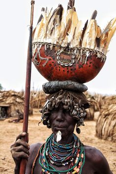 Dassanech woman . Omo valley Ethiopia
