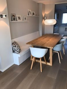 Kitchen Redo, New Kitchen, Kitchen Design, Dining Room Bench Seating, Dining Table, Aesthetic Rooms, House Rooms, Home And Living, Small Spaces