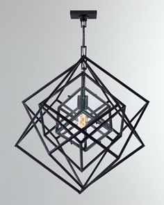 Visual Comfort Cubist - One Light Small Chandelier KW 5020 - Chandelier Lighting - Contemporary - Lights Metal Chandelier, Chandelier Lighting, Stairway Lighting, Ring Chandelier, Circa Lighting, Vanity Lighting, Visual Comfort Lighting, Kelly Wearstler, Candelabra Bulbs